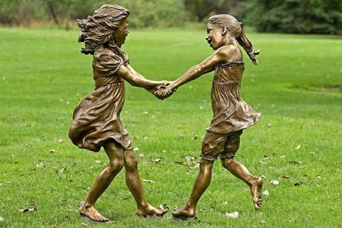 2017High Quality Bronze Children Statues Wholesale