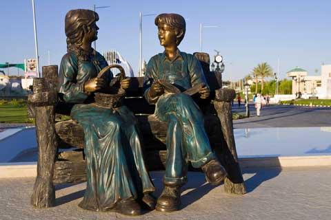 Antique Street Art Bronze Sculptures for Street Decor
