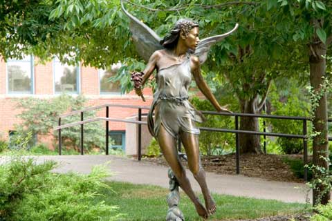 Beautiful Bronze Angel Sculpture for Garden & Yard Decor