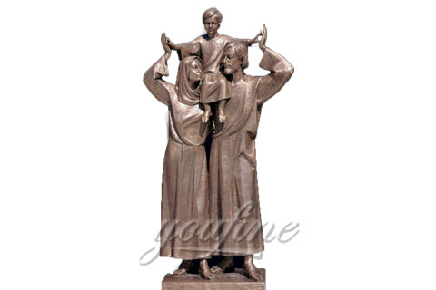Bronze Jesus family Religious Holy Family Statues
