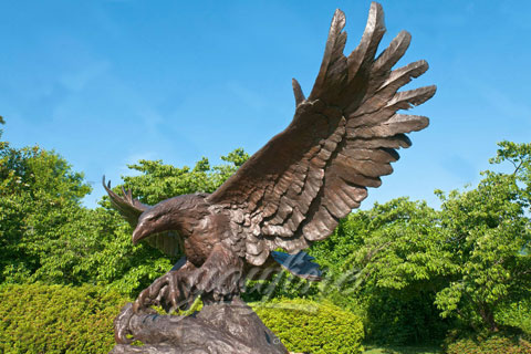 Cast Brass Bronze Eagle Sculpture For Sale