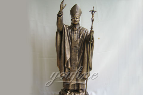 Decorative Outdoor Cast Bronze John Paul II Statues