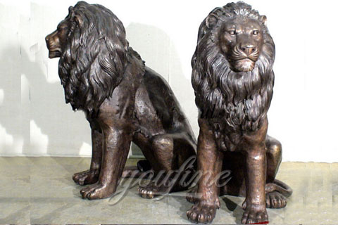 Garden Decoration Casting Bronze Lion Statues