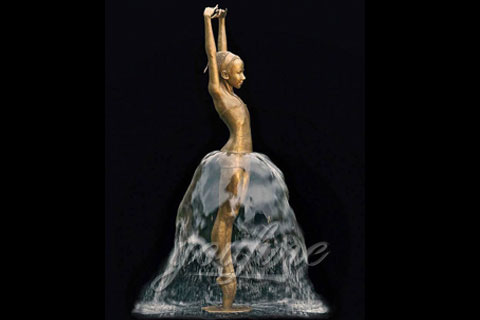 Garden Decoration Dancing Bronze Water Fountain