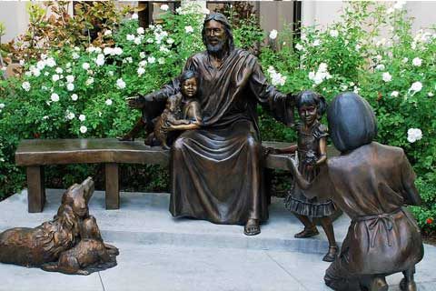 Happy Family Bronze Sculptures for Garden& Yard Decoration