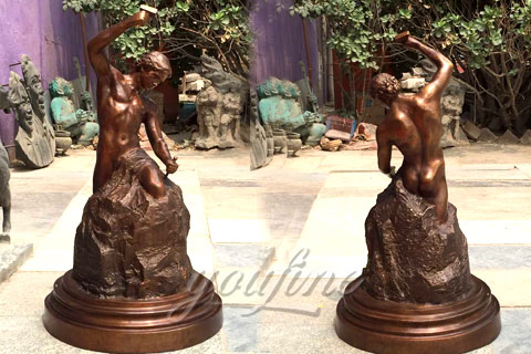 Hot Sale Casting Bronze Self Made Man Statues