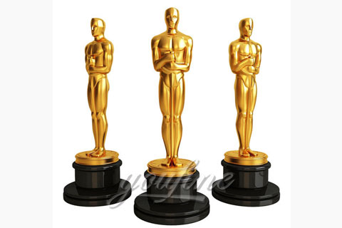 Indoor Copper Sculpture Bronze Oscar Statues