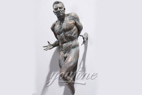 Italy Famous Bronze Casting Matteo Pugliese Sculpture Statue In the wall sculptures