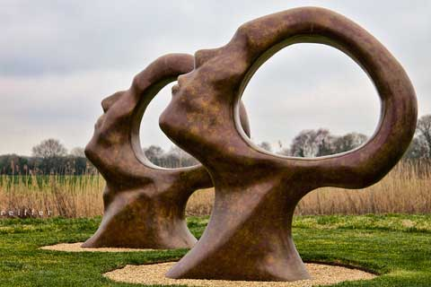 Large Abstract Outdoor Bronze Sculptures for Garden Decoration