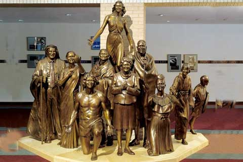 Large Casting Bronze Figures Sculpture for Hotel Lobby