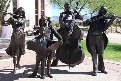Large Garden Decorative Music Bronze Statues