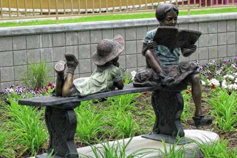 Life Size Wholesale Garden & Yard Decoration Antique Bronze Kids Statue Metal