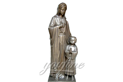 Mother And Child Bronze Virgin Mary Sculptures