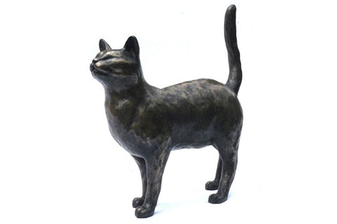 New design indoor bronze statues cat for sale