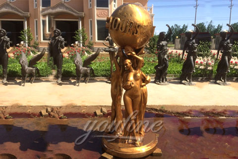 Outdoor Bronze The World Is Yours Statues