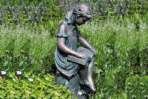 Outdoor Sculptures Metal Crafts Life Size Bronze Sculpture for Garden