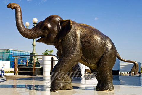 Wholesale Small Cast Bronze Elephant Sculptures