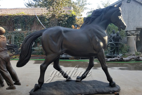 Garden Large Bronze Horse Sculptures For Sale