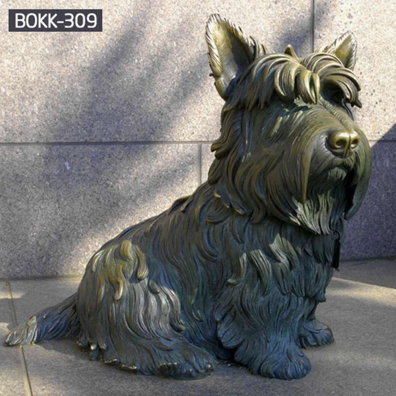 Antique Bronze Dog Statue of Franklin Delano Roosevelt Memorial for sale BOKK-309