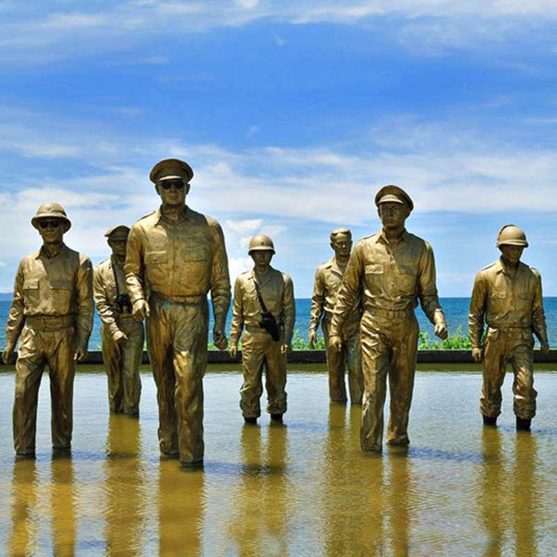 Bronze MacArthur Leyte-Landing Memorial Sculptures for Sale BOKK-484