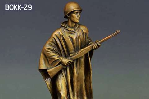 China Manufacture of Popular Bronze Solider Sculpture BOKK-29