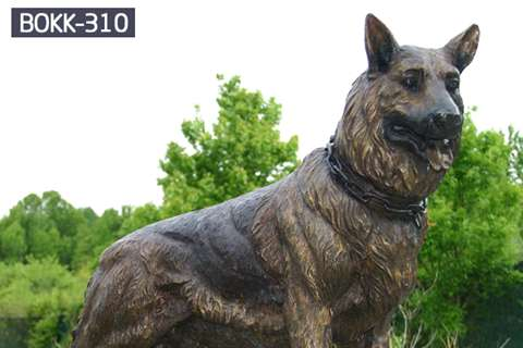 Factory Supply Bronze Animal Dog Sculpture BOKK-310