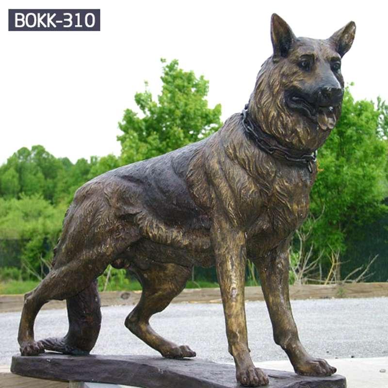 Factory Supply Bronze Animal Dog Sculpture