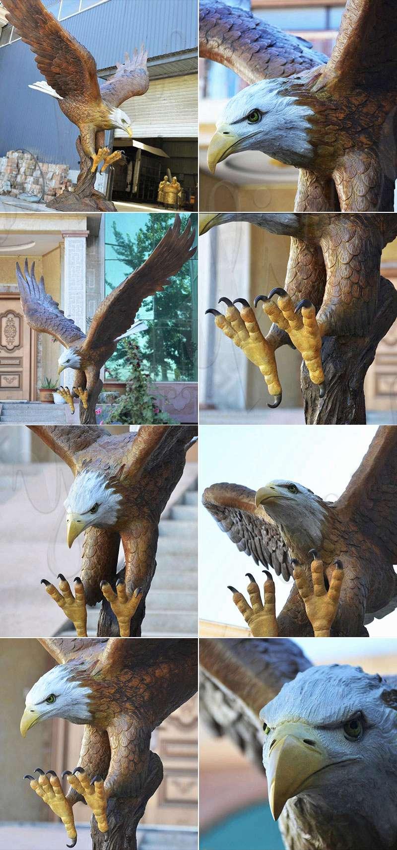 Factory Wholesale Large Garden Bronze Eagle Sculpture