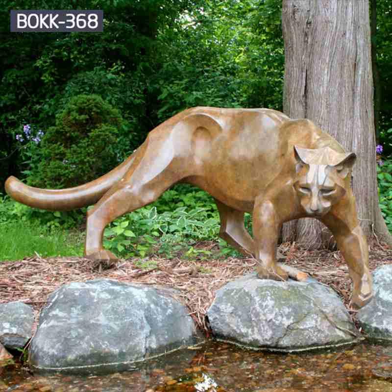 Garden Bronze Panther Statue