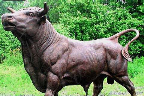 Low Price Customize Bronze Cow Sculpture for Sale BOKK-684