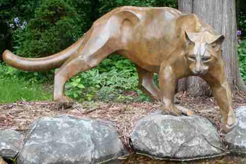 Supplier of Garden Bronze Panther Statue BOKK-368