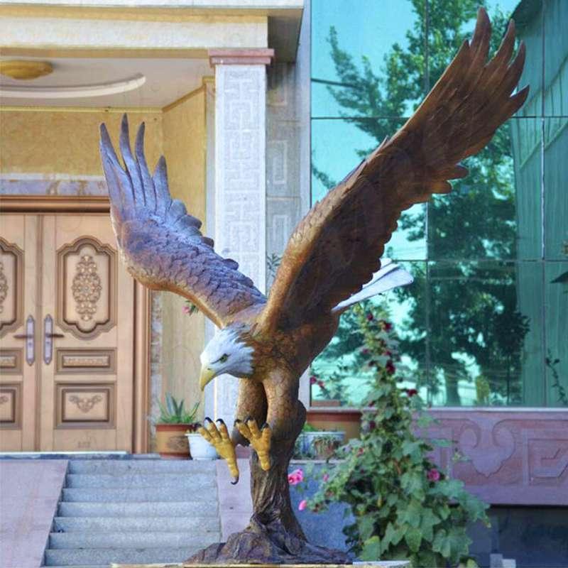 Wholesale Large Garden Bronze Eagle Sculpture BOKK-601