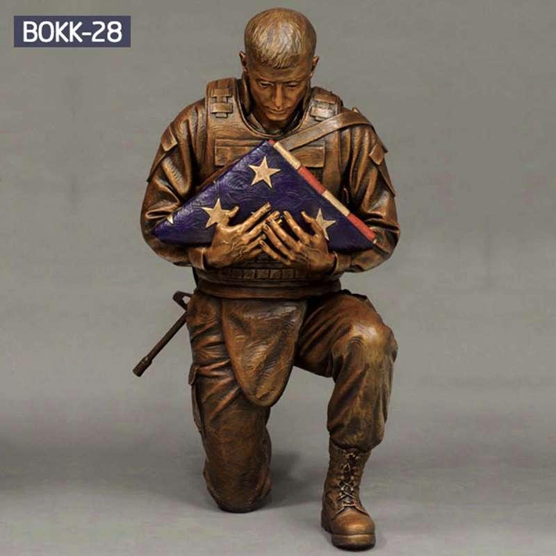 Wholesale Life Size Bronze Military Soldier Sculpture BOKK-28