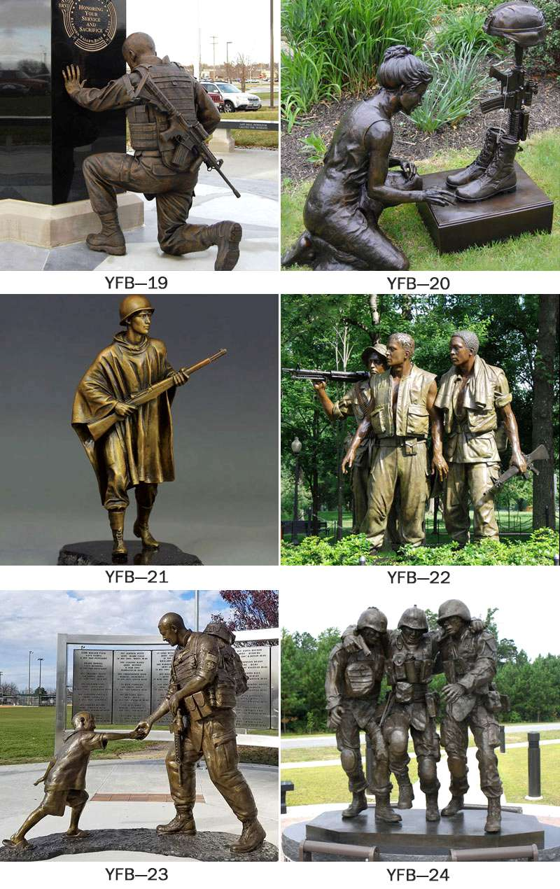 Wholesale Life Size Bronze Military Soldier Sculpture