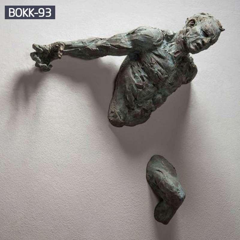 Buy Life Size Creative Bronze Climb Man Statue of France
