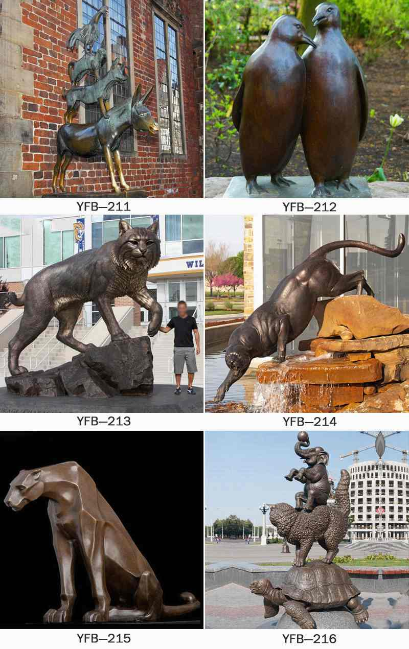 Cheap Famous Bronze Animal Sculptures of Musician in Bremen BOKK