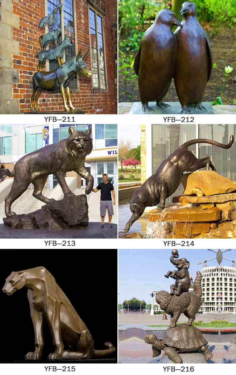 Cheap Large Bronze Cat Sculpture for Park Decoration
