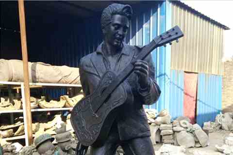 Chinese Factory Celebrity Bronze Elvis Sculpture for Sale BOKK-03