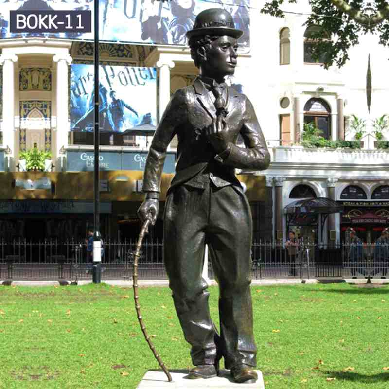 Chinese Factory Life Size Bronze Celebrity Statue of Chaplin