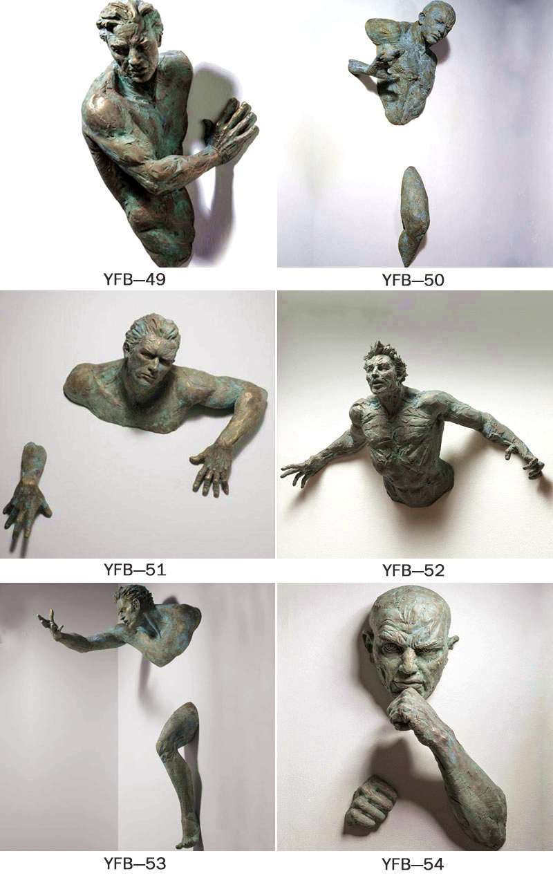 Creative Bronze Figure Sculpture of Climbing Man BOKK-91