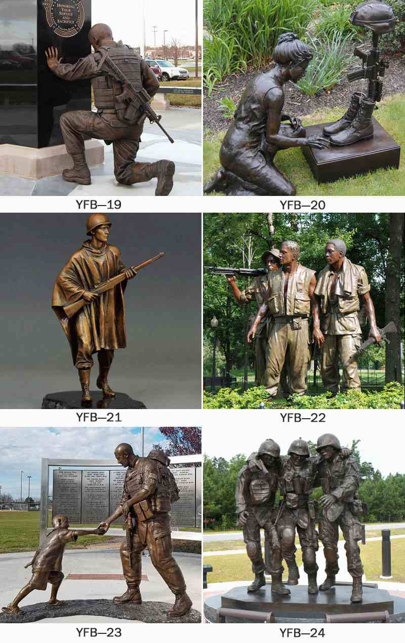 Factory Supply Bronze Soldier Sculpture for Veterans Park BOKK