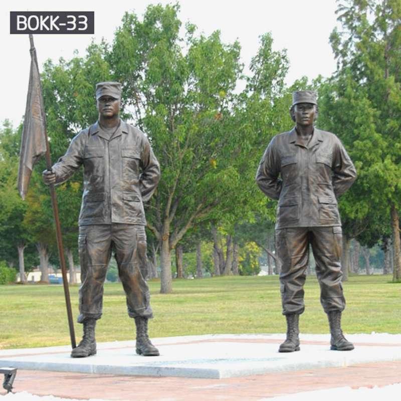 Factory Wholesale Life Size Bronze Military Sculpture BOKK
