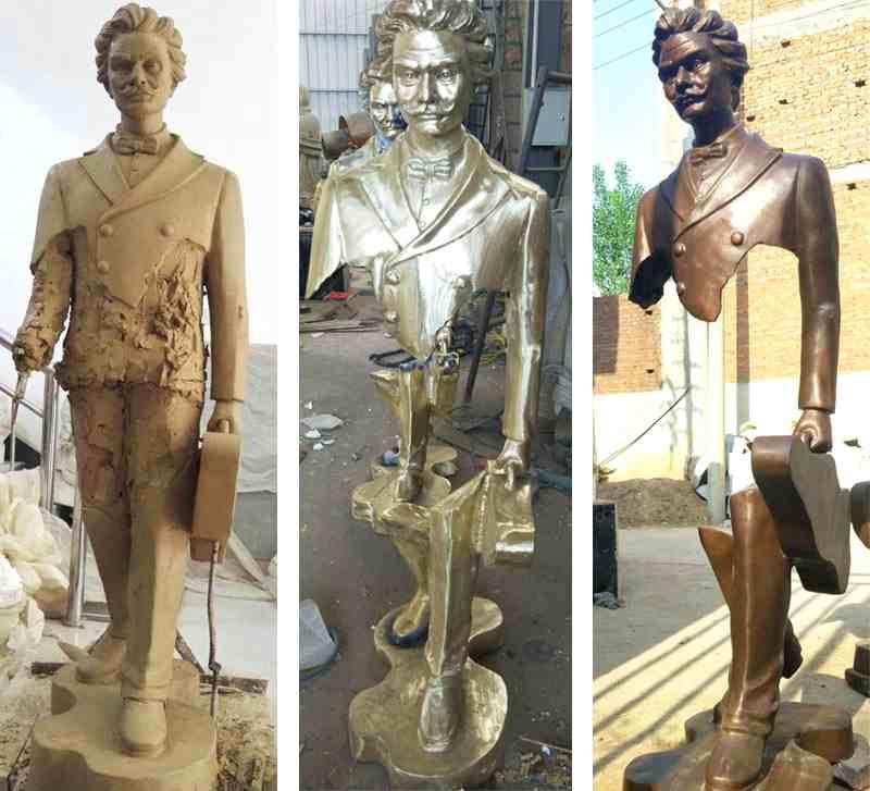 Famous Bronze Traveler Sculpture for Sale