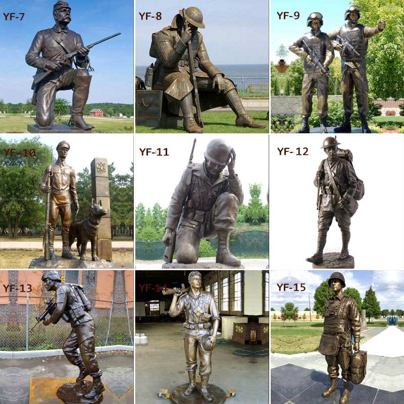 How to buy Life Size Bronze Soldier Statue BOKK