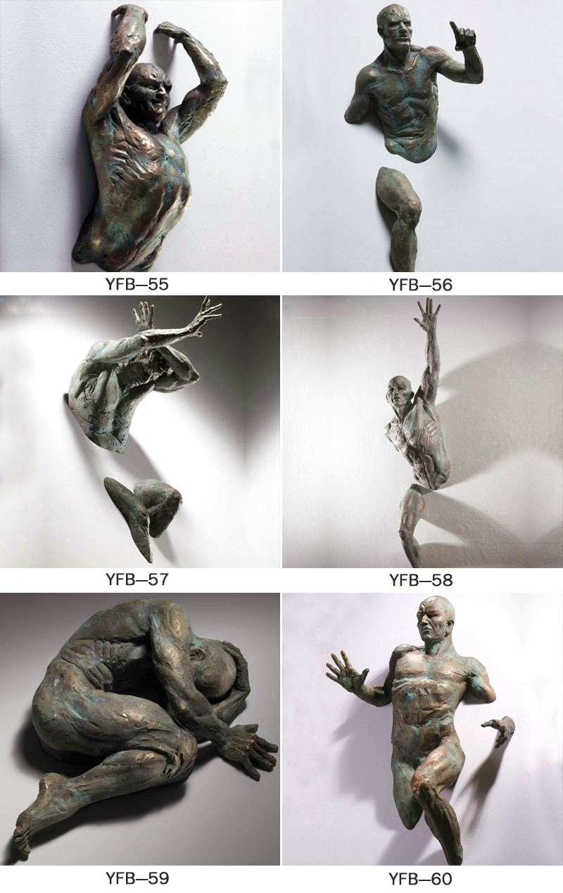 Life Size Creative Bronze Climb Man Statue of France BOKK-93