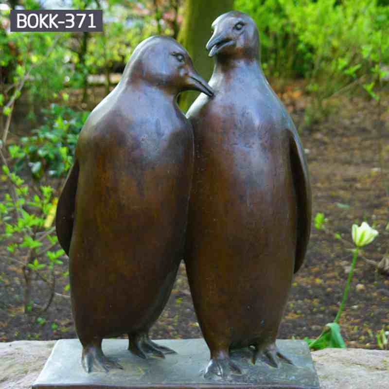 Life Size Lovely Bronze Penguins Sculpture from Chinese Factory BOKK-371