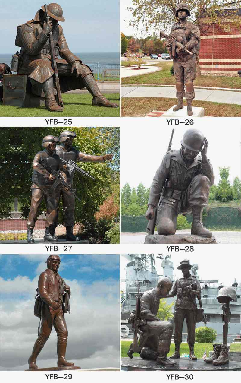 Wholesale Life Size Bronze Military Sculpture BOKK-33