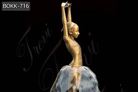 Buy Charming Western Bronze Figure Sculpture of girl BOKK-716