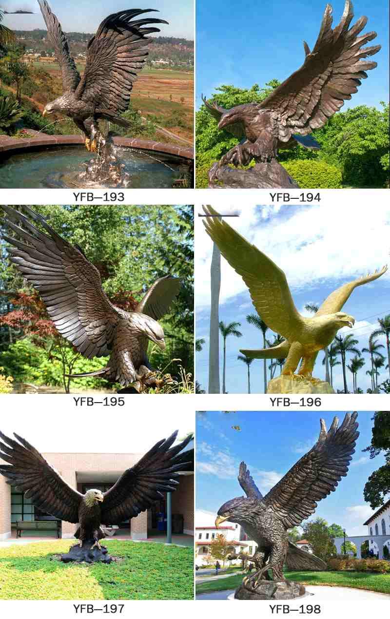 Carved Life Size Bronze Eagle Sculpture BOKK-338