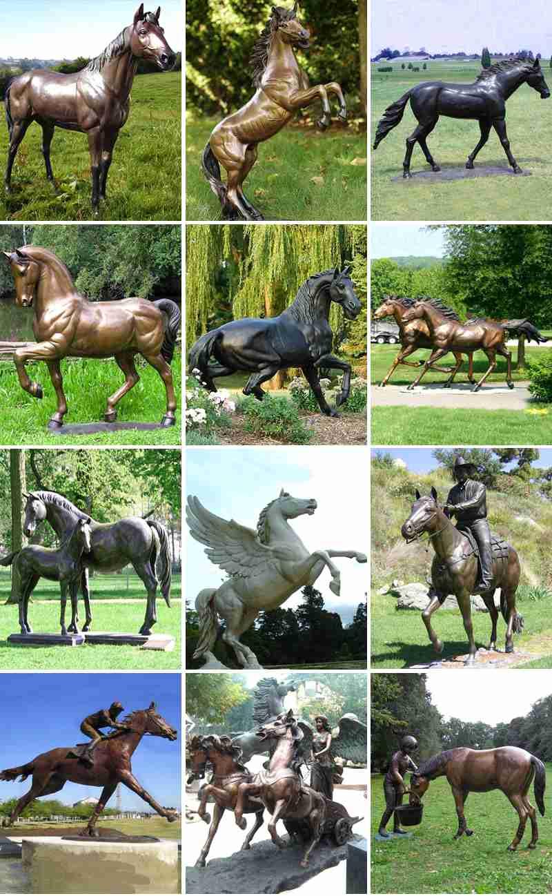 Cheap Large Bronze Horse Sculpture for Park